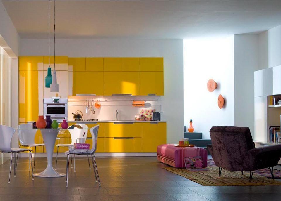 Salotto Colore Giallo : Colore soggiorno giallo idee per il design della casa