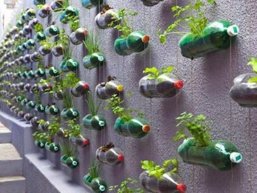 bottiglie in plastica riciclate