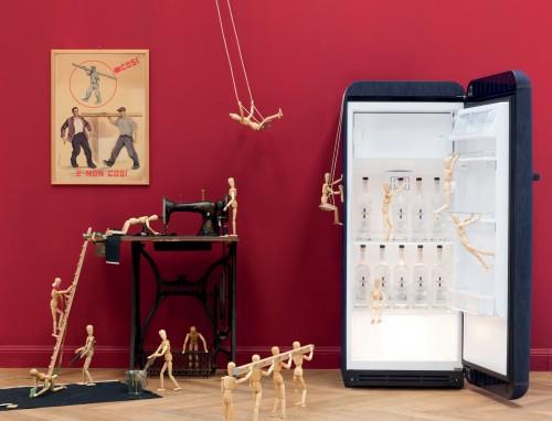 smeg. frigorifero jeans, frigorifero anni 50, frigorifero bombato, fab28rdb, frigoriferi colorati, frigorifero arredo, domus arredi