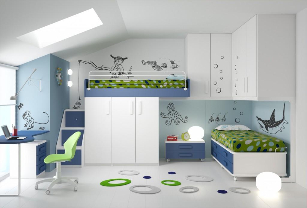 Ima camerette archives non solo mobili cucina for Piani e disegni di casa con 2 camere da letto