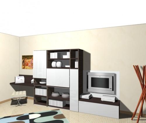 Progetto open space cucina angolare 8878 idee per il - Soggiorno moderno angolare ...