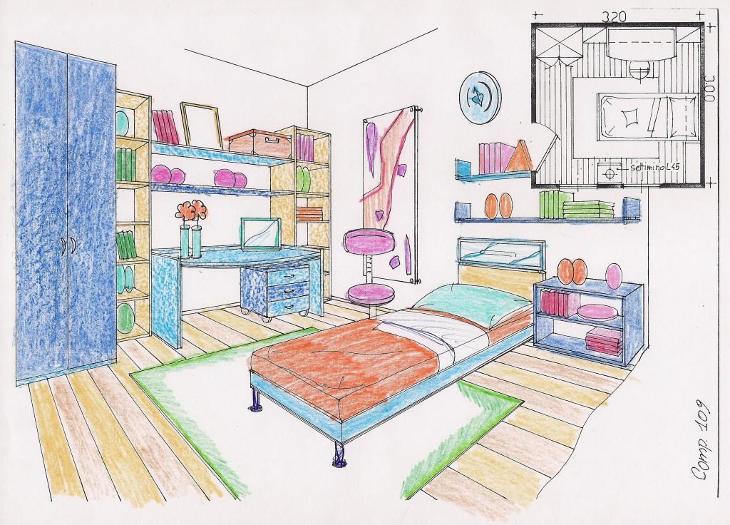 Disegno Camera Da Letto ~ Ispirazione Per La Casa