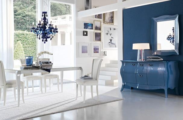 Blu archives non solo mobili cucina soggiorno e camera - Camera da letto pareti blu ...